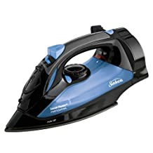 Sunbeam Steam Master professional 1200 Watt Large-size Anti-Drip Non-Stick Soleplate Iron with Variable Steam control and 8' Retractable Cord, Black/Blue, GCSBSM-423-000