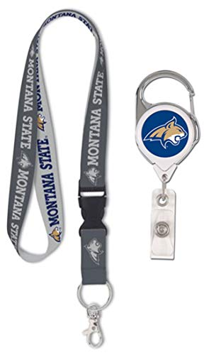 - Wincraft Bundle 2 Items: Montana State Bobcats 1 Premium Lanyard, Charcoal Edition and 1 Premium Badge Reel