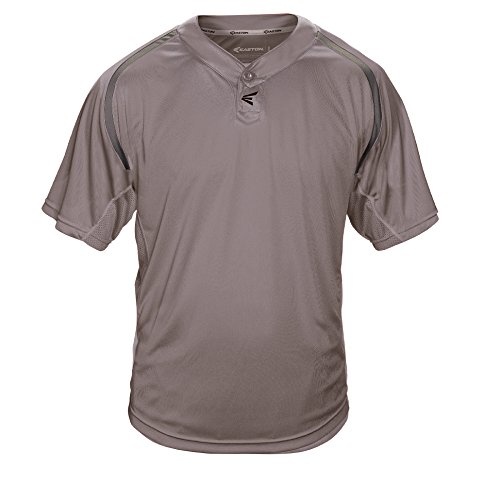 Easton Men's M7 Two Button Homeplate Jersey, Grey, X-Large