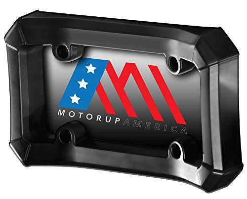(Motorup America Bumper Guard License Plate Frame Holder for Front Mount Bracket Protection - Fits Select Vehicles Car Truck Van)
