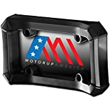 Motorup America Bumper Guard License Plate Frame Holder for Front Mount Bracket Protection - Fits Select Vehicles Car Truck Van SUV