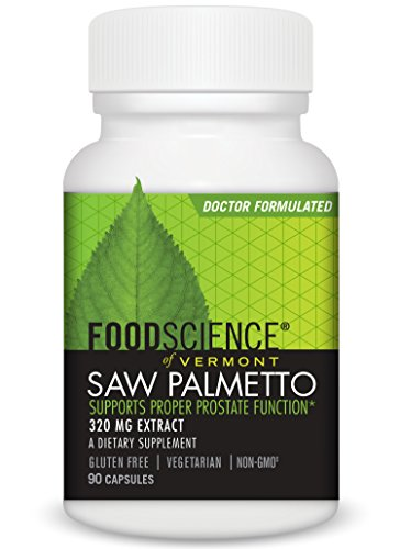 FoodScience of Vermont Saw Palmetto, Dietary Supplement to Support Prostate Function, 320 mg, 90 Capsules