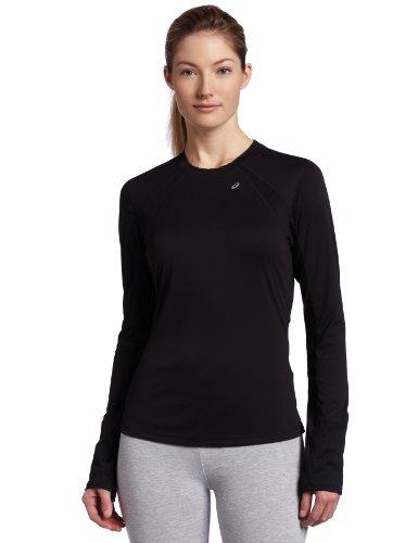 ASICS Women's Favorite Long Sleeve Running Tee,Black,X-Small
