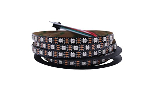 HJHX Ws2812b Led Strip 16.4ft 300LEDs Individually Addressable Led Light,SMD5050 RGB Magic Color Flexible Rope Lights (Non-Waterproof) -