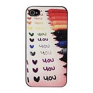 """Conseguir Relief """"Te Amo"""" Caso duro del patrón para el iPhone 4/4S (multicolor)"""