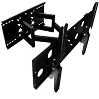 2xhome - Black, Full Motion Tilts&Swivels Plasma LCD LED HDTV Wall Mount Bracket for 32 37 40 42 46 47 50 52 65 Inches flat panel displays