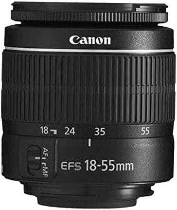 Canon EOS 4000D DSLR Camera with 18-55mm f/3.5-5.6 Zoom Lens + 75-300mm F/4-5.6 III Lens + 32GB Card, Tripod, Case, and More (24pc Bundle)