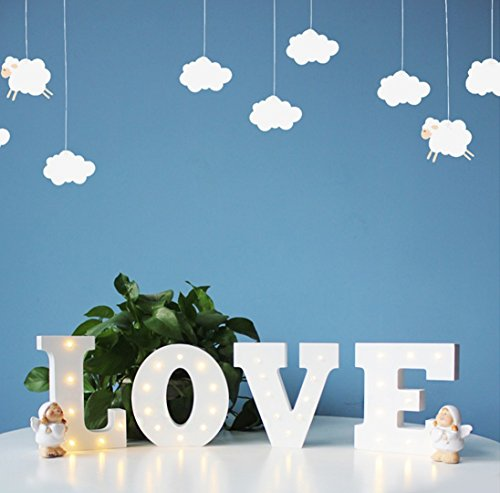 """Light Up Kitchen Signs: Didihou 6"""" Wooden Marquee LED Letter Night Lights"""