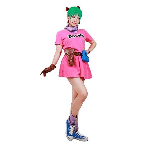 miccostumes Women's Bulma Cosplay Costume (Women XL) Pink