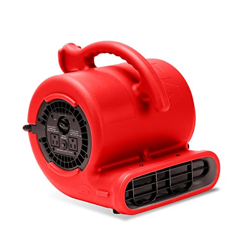 B-Air VP-25 1/4 HP 900 CFM Air Mover for Water Damage Restoration Equipment Carpet Dryer Floor Blower Fan Home and Plumbing Use, Red from B-Air