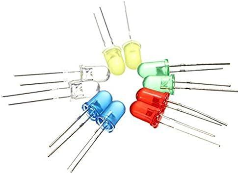 10 diodos luminosos diodo emisor de luz LED LEDs 5mm amarillo