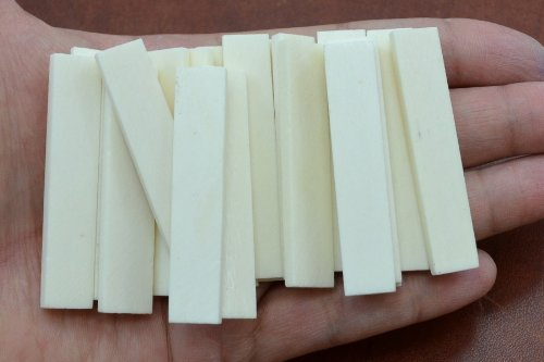 "10 PCS Guitar Buffalo Bone Saddle Blanks 2 1/8"" X 3/8"" X 3mm"