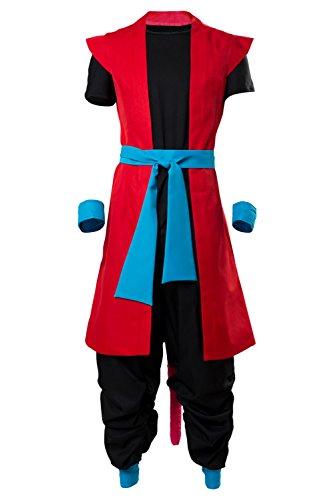 UU-Style Super Dragon Ball Heroes Universe Mission Son Goku ZENO Prison Planet Saga Super Saiyan Cosplay Costume (Large, Red)
