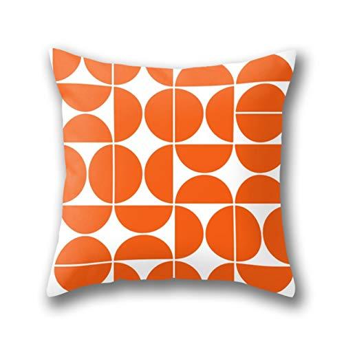 GARDEAR Mid Century Modern Geometric 04 Orange Pillow Cover