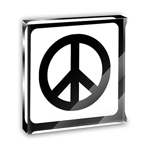 Sign Paperweight (Peace Sign Acrylic Office Mini Desk Plaque Ornament Paperweight)
