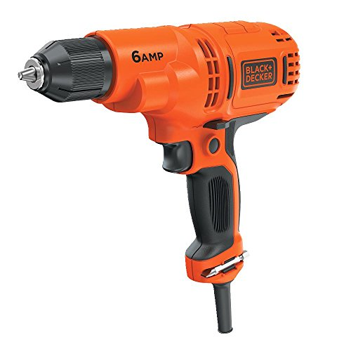 BLACK+DECKER Corded Drill, 6.0-Amp, 3/8-Inch (DR340C)