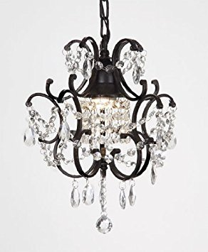 Chandelier wrought iron crystal chandeliers h14 w11 small chandelier wrought iron crystal chandeliers h14quot aloadofball Images