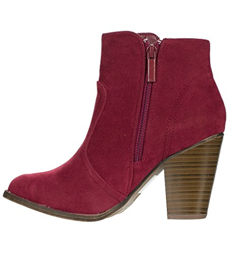 34W Breckelles Wine Heather new Boots Bootie PqSwp