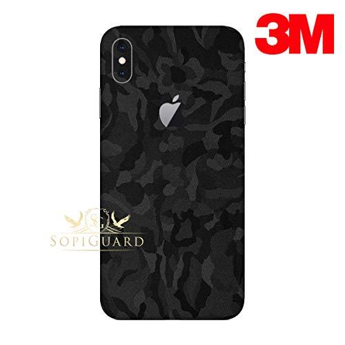 SopiGuard Skin for Apple iPhone Xs MAX Precision Edge-to-Edge Vinyl Sticker (3M Black Camo)