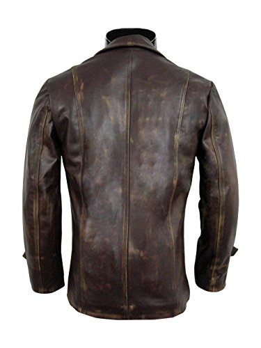 Brown Distressed Front Pockets Super Natural Real Leather Jackets ►BEST SELLER◄