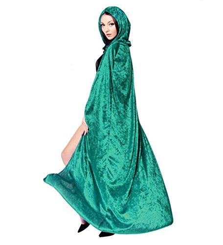 LadyKing Witch Cloak Wizard Cape Dress Up Unisex Cosplay Costumes for Halloween (Cheap Renaissance Dress)