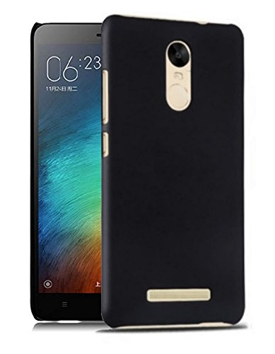WOW-Imagine-SWHXMIRN3BLK-Rubberised-Matte-Hard-Case-Back-Cover-For-XIAOMI-MI-REDMI-NOTE-3-Pitch-Black