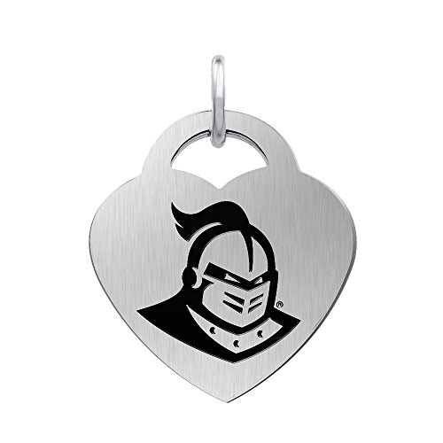 University of Central Florida Knights Laser Engraved Stainless Steel Heart Charm