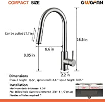 Touch Kitchen Faucet Owofan Touch On Kitchen Sink Faucet With Pull Out Sprayer Single Handle Smart Sense Pull Down Kitchen Faucet Amazon Com