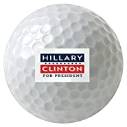 Hillary Clinton For President 3-Pack Printed Golf Balls