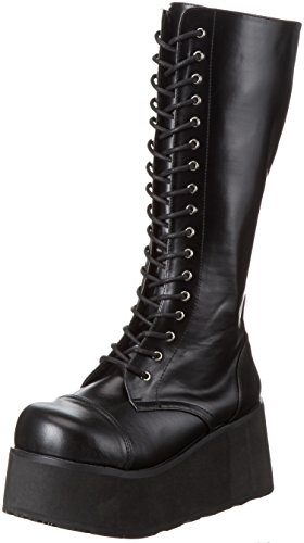 Pleaser Demonia Men's Trashville-502 Lace-Up Boot Black Pu