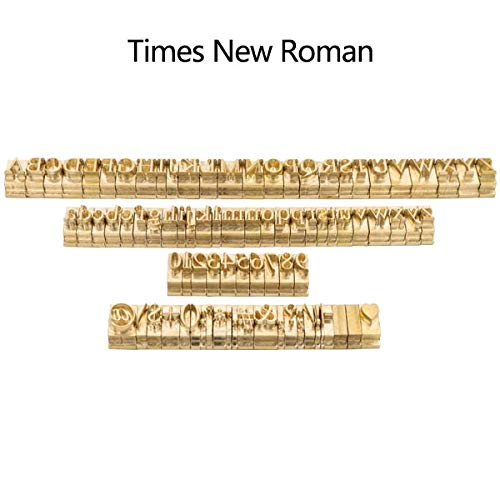 - Xennos T-Slot Brass Letters Die Cut Debossed Mold Hot Foil Stamp Copper Alphabet Press Set Customized Font DIY Character Mold - (Color: Time New Roman)