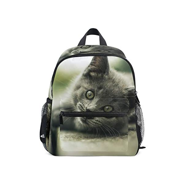 Zaino per la scuola con animali di gatto, per bambini e ragazzi, da 3 a 8 anni 1 spesavip
