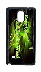 keep calm and smoke weed Snap-on Hard Back Case Cover Shell for Samsung Galaxy Note 4 -610