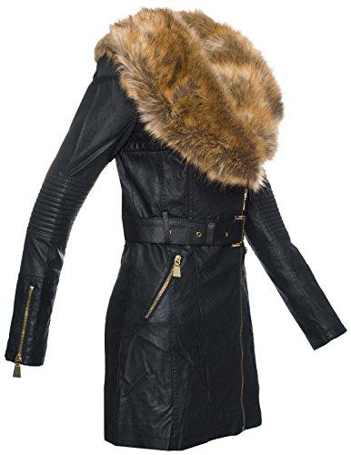 new styles 62295 22523 Damen Kunstleder Jacke übergangsjacke Damen Mantel ...