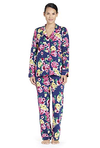 BedHead Women's Classic Notch Collar Knit Pajama Set Bella Rosa - Set Bed Pajama Womens Head Classic