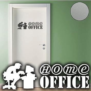 A292 Tur Wandtattoo Home Office 60cm X 18cm Silber Erhaltlich In