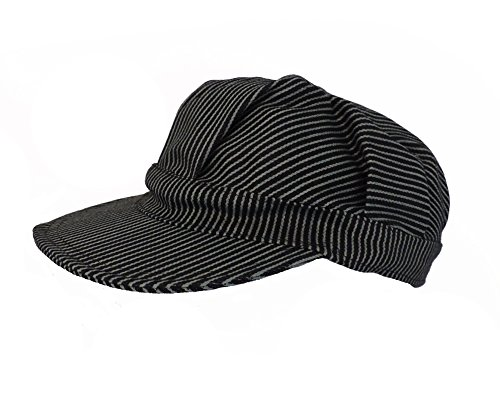 Navy Blue Pinstripe Engineer Train Conductor Hat Cap - Child Polar Express Conductor Costumes