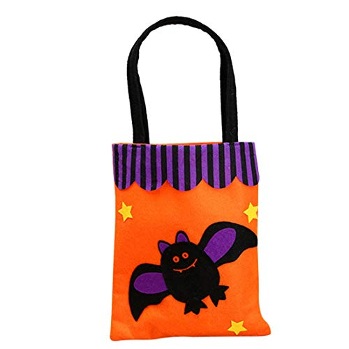 Gift Bags Wrapping Supplies - Halloween Non Woven Portable Candy Bag Lovely Treat Or Trick Storage Party Decoration - Fancy Bonbonniere Wedding Kraft Lamp Party Snow Bat Snowball -