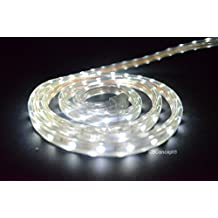 Cbconcept 120VSMD3528-6.5M-CW 20-Feet Cool White 120 Volt LED SMD3528 Flexible Flat LED Strip Rope Light, 3/8-Inch Width x 1/4-Inch Thickness