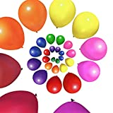 MESHA 12 Inches Assorted Color Party Balloons (144 Pcs)