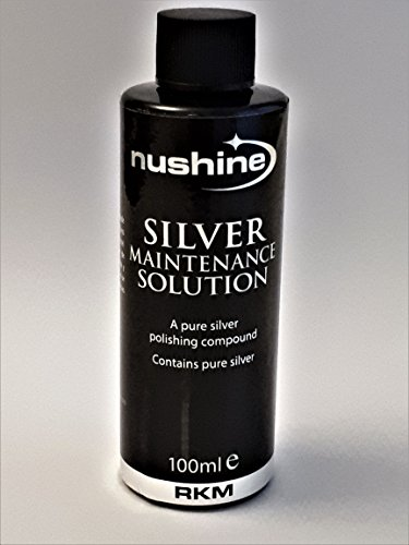 Nushine Silver Maintenance Solution 3.4 Oz - contains pure silver (perfect for worn silver)