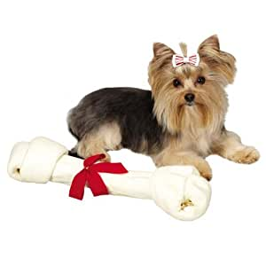 Ranch Rewards Holiday Rawhide Monster Bone for Pets, 16 to 17-Inch