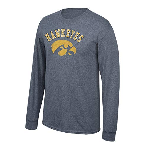 Ncaa Hawkeyes Iowa (Elite Fan Shop NCAA Men's Iowa Hawkeyes Long Sleeve T Shirt Charcoal Vintage Iowa Hawkeyes Charcoal Large)