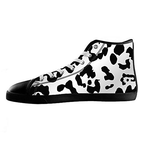 Imprimé Léopard Chaussures Sur Mesure Pour Hommes Toile I En Lacets De Chaussures Haut Au-dessus Des Chaussures De Sport De Chaussures De Toile.