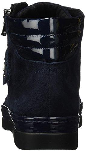 Semler Damen Rubino Biker Boots Blau (midnightblue-oceano)