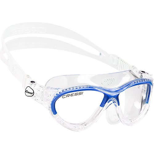 Cressi Sub Goggles - Cressi Cobra Swim Goggle for Kids - Blue