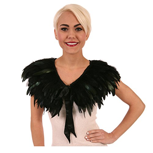 Zucker Feather Products Rooster Coque Feather Cape, Black Iridescent (Adult Rooster Costume)