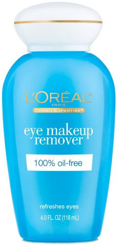 L'Oreal Paris 100 Percent Oil-Free Eye Makeup Remover, 4 FZ