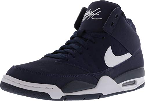 ef8a25b909dd Galleon - Nike Men s Air Flight Classic Obsidian White High-Top Leather  Basketball Shoe - 8M