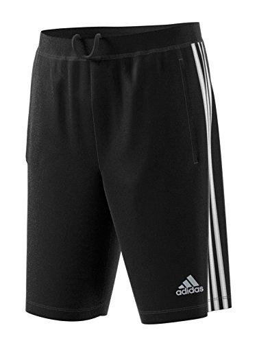 Adidas Men's Tall Size Designed-2-Move 3-Stripes Shorts, Black/White, 3XLarge-Tall